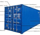 dispositivo di un container marittimo