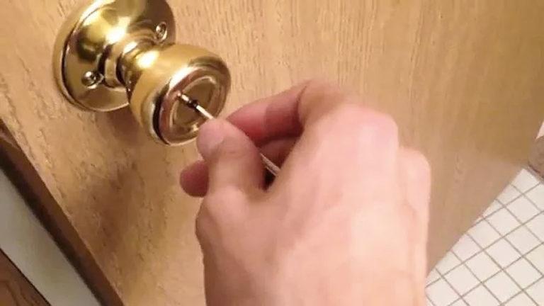 verwijder het slot van de binnendeur